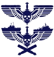 Icons of the Navy vector image