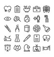 medical health and hospital line icons 11 vector image