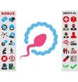 Sperm Penetration Icon vector image