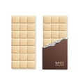 White Chocolate Package Bar Blank vector image
