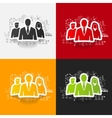 drawing business formulas business people vector image