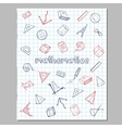 Math Sketch Icons Collection vector image