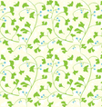 ginkgo seamless pattern vector image vector image