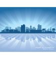 Port Elizabeth Africa city skyline silhouette vector image