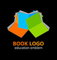 book logo template vector image