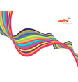 Colorful lines with place for text art vector image vector image