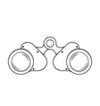 Military Old Binocular vector image