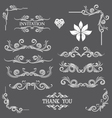 Vintage Line Art Ornamental vector image
