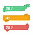 Paper origami banners vector image