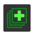 Medical Docs Flat Button vector image