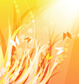 warm nature background vector image