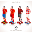 EURO 2016 Championship GROUP D vector image