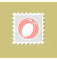 Beach Ball stamp vector image