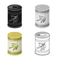 canned olives in a canolives single icon in vector image