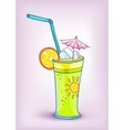 cartoon food drink cocktail vector image