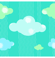 Green Clouds Pattern Background vector image