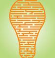 Light Bulb Maze vector image