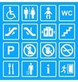 Service Signs icon set vector image