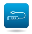 Usb hub icon simple style vector image