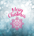 Abstract Snowflakes Blue Background vector image vector image