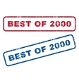 Best Of 2000 Rubber Stamps vector image vector image