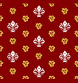 seamless pattern with royal lily vector image