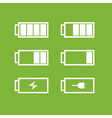 Set of battery icons vector image vector image