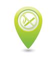 NOsmoking GREEN map pointer vector image vector image