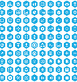 100 big data database icons vector image