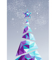 Merry christmas happy new year tree triangle 2016 vector image