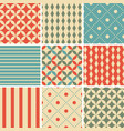 9 abstract vintage geometric seamless patterns vector image