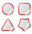 Blank stickers with color frame vector image