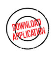 download application rubber stamp vector image