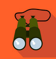 hunting binoculars flat and cartoon style vector image