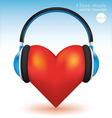 I love music vector image