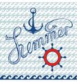 Maritime symbols vector image