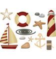 Nautical symbols vector image