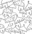 seamless pattern of fantasy umbrellas vector image