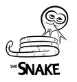 Snake Cartoon Outline vector image vector image