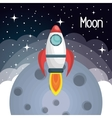 rocket ship solar system isolated vector image