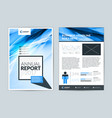 annual report cover design template flyer design vector image
