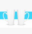 template ceramic white mug with vector image