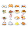 Computer icons of various dishes vector image vector image