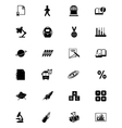 Education Solid Icons 3 vector image