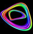 multicolor spectral curve vector image vector image