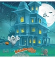 Cartoon night a mysterious haunted house in the vector image