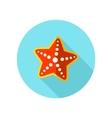 Starfish flat icon with long shadow vector image