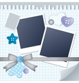 blue frame for photos vector image