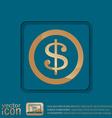 Dollar coin symbol of money vector image