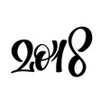 black number christmas 2018 hand drawn lettering vector image